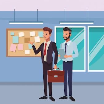 Desenhos animados de empresários executivos