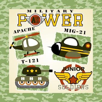 Desenhos animados de equipamento militar