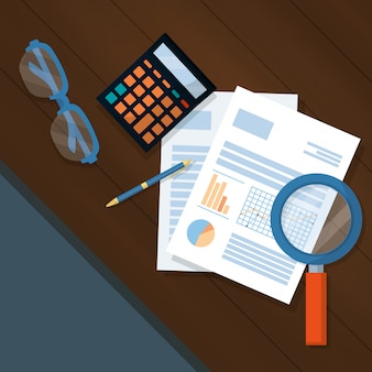 Desenhos animados de finanças pessoais de negócios