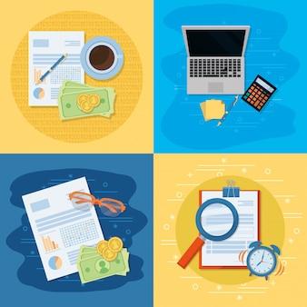 Desenhos animados de finanças pessoais