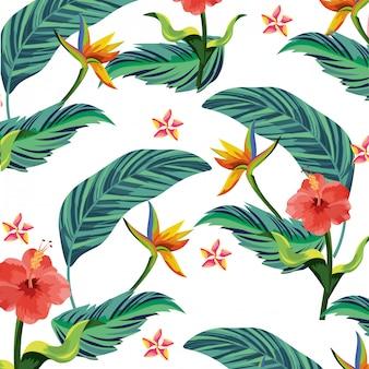 Desenhos animados de flores da natureza