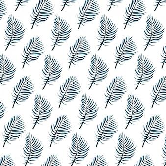 Desenhos animados de folha tropical de natureza