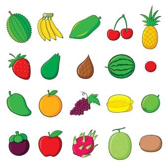 Desenhos animados de frutas