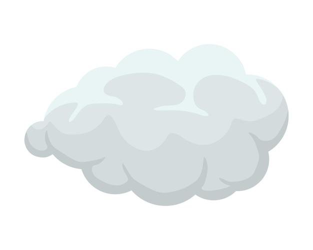 Desenhos animados de fumaça ou névoa cumulus explosão cômico nuvem plana ilustração vetorial esfumaçado