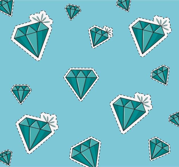 Desenhos animados de fundo de diamantes