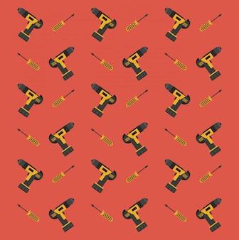 Desenhos animados de fundo de ferramentas