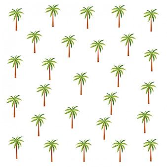 Desenhos animados de fundo de padrão de palmas