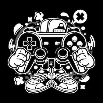 Desenhos animados de gamer de rua