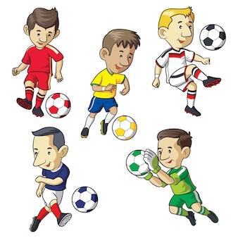 Desenhos animados de garoto de futebol