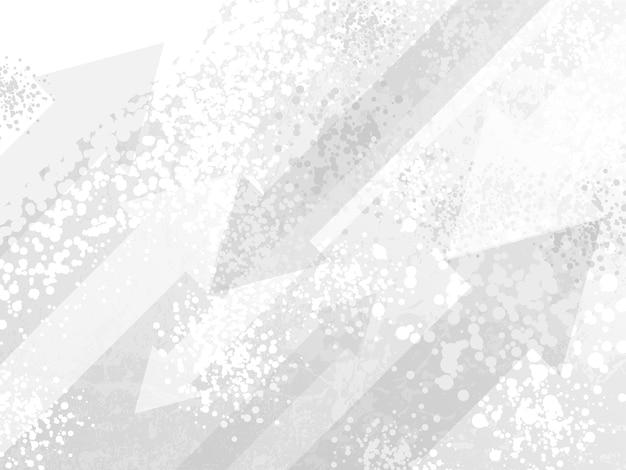 Desenhos animados de grunge manchados de fundo branco de meios-tons. as setas diagonais danificadas por socorro se sobrepõem ao efeito de textura de spray de tinta de pontos sujos.