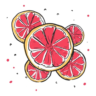Desenhos animados de handrawn laranja