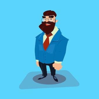 Desenhos animados de homem de negócios de barba