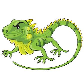 Desenhos animados de iguana