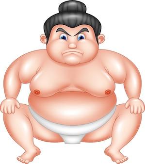 Desenhos animados de lutador de sumô