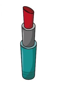 Desenhos animados de maquiagem de batom