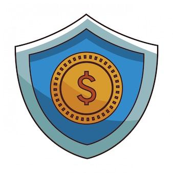 Desenhos animados de moeda de dinheiro de poupança