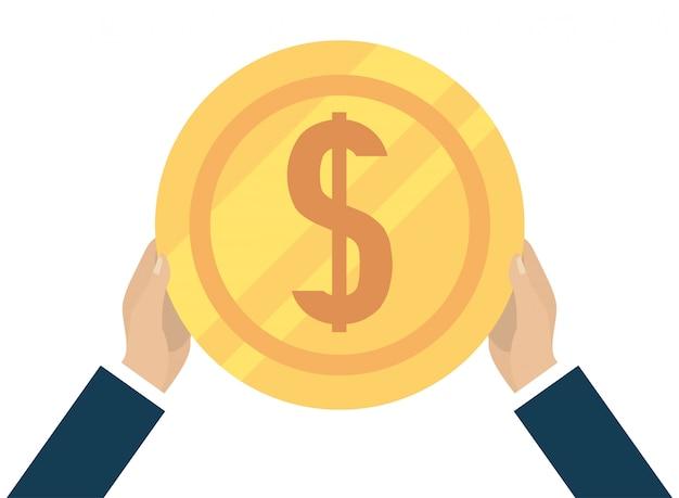 Desenhos animados de moeda de dinheiro