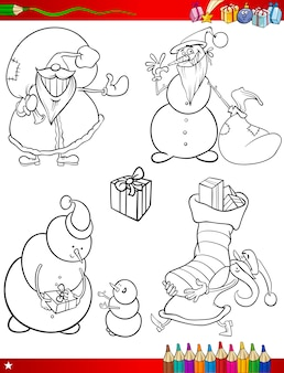 Desenhos animados de natal temas para colorir