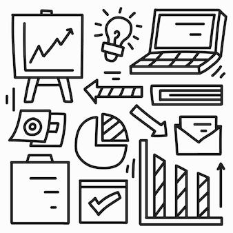 Desenhos animados de negócios kawaii doodle design
