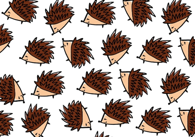 Desenhos animados de ouriço