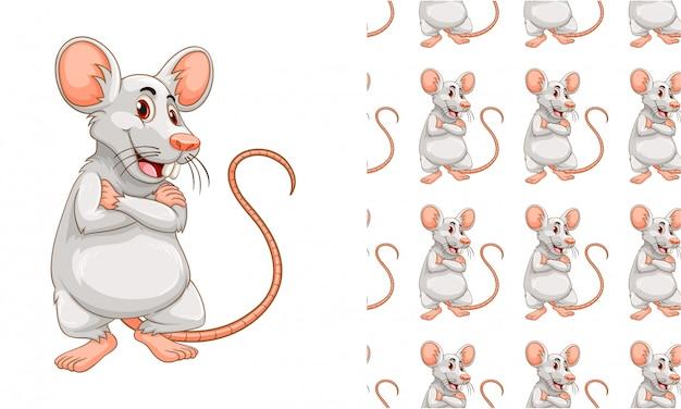 Desenhos animados de padrão de rato isolado