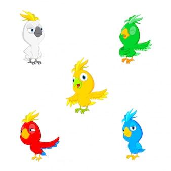 Desenhos animados de papagaio de ilustração vetorial
