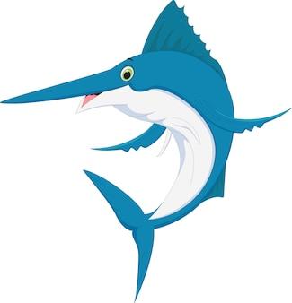 Desenhos animados de peixe marlin