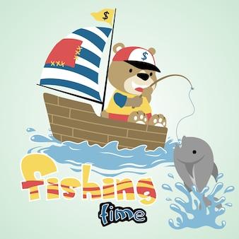 Desenhos animados de pesca
