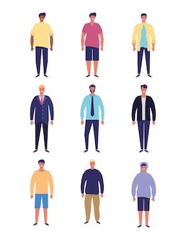 Desenhos animados de pessoas de homens