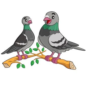 Desenhos animados de pombo