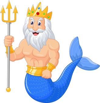 Desenhos animados de Poseidon