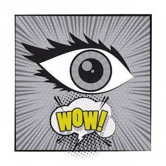 Desenhos animados de quadrinhos pop art em preto e branco