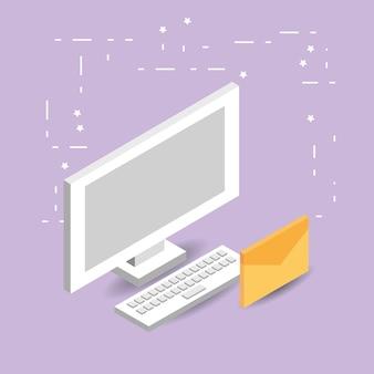 Desenhos animados de rede de computador