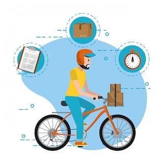 Desenhos animados de serviço de entrega