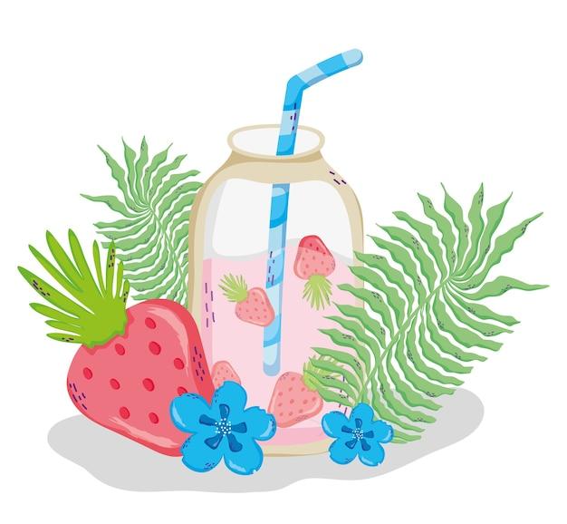 Desenhos animados de suco de verão delicioso