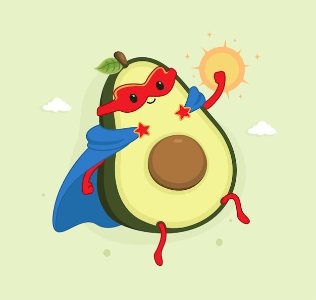 Desenhos animados de super-heróis abacate