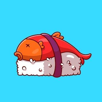 Desenhos animados de sushi de salmão