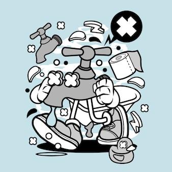 Desenhos animados de torneira
