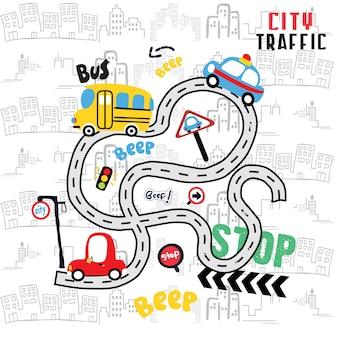 Desenhos animados de transporte para camiseta