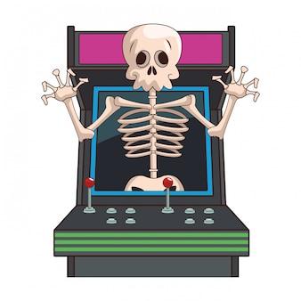 Desenhos animados de videogame de crânio