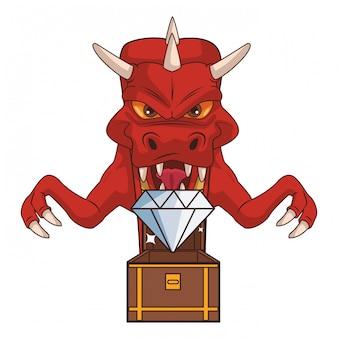 Desenhos animados de videogame de dragão