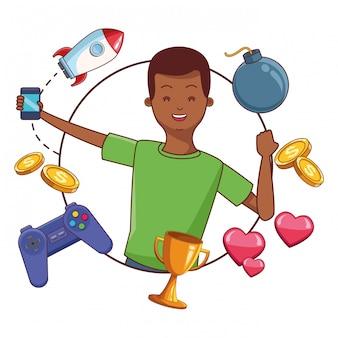 Desenhos animados de videogames e millennials