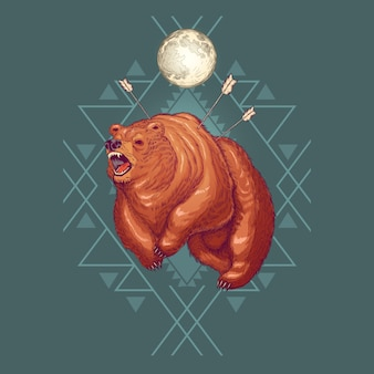 Desenhos animados de werebear furioso