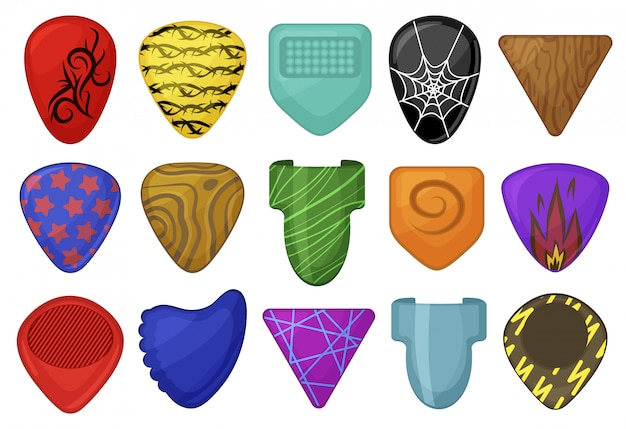 Desenhos animados definir ícone palheta.
