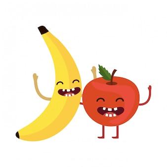 Desenhos animados deliciosos frutos deliciosos