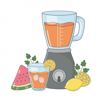 Desenhos animados deliciosos smoothie saudável