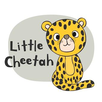 Desenhos animados desenhados mão da chita para a impressão da camisa das crianças t