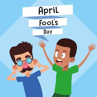 Desenhos animados do dia de tolos de abril