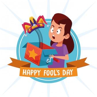Desenhos animados do dia dos enganados