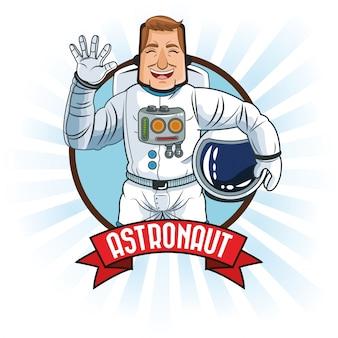 Desenhos animados do espaço de astronauta